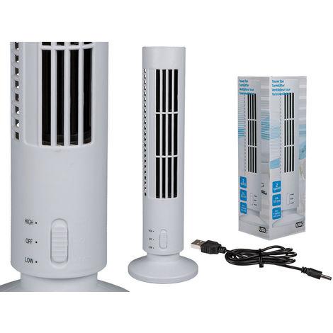 Ventilatore a Torre Usb 2 Velocita' 33 cm Portatile Casa Ufficio Pc Tavolo Auto