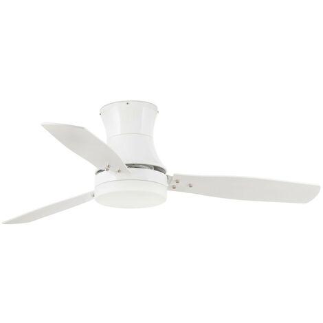 Ventilatore con luce bianco acero TONSAY FARO 33384