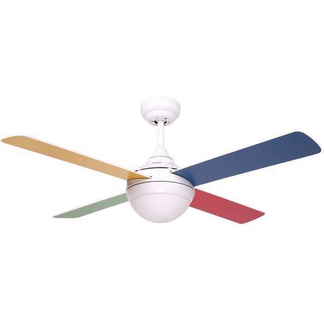 Ventilatore da soffitto 4 pale colorate SULION 075315