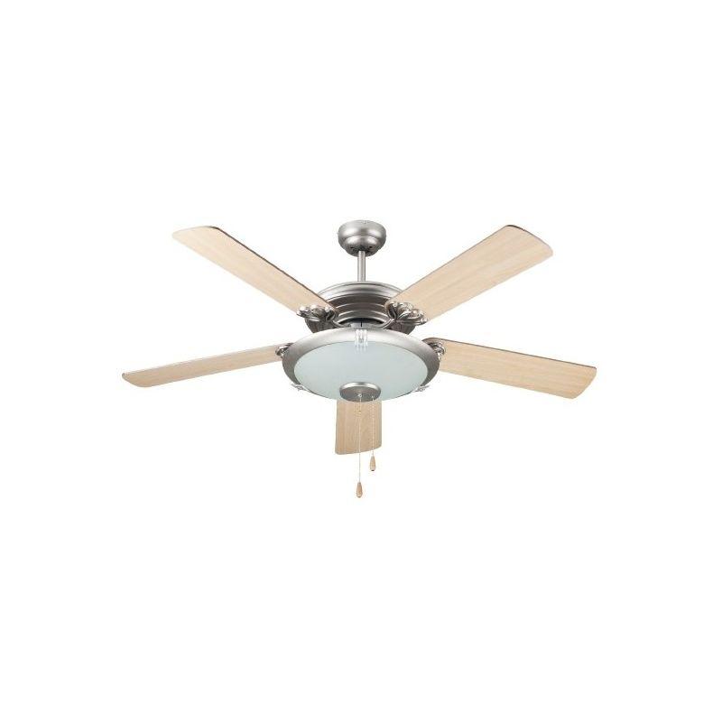 Ventilatore A Soff.5 Pale Legno Con Luce E Telecomando - KOOPER