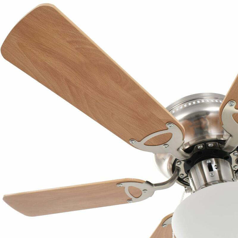 Ventilatore A Soffitto Lisboa Marrone 107 cm lampada inclusa e cordoncino di Faro