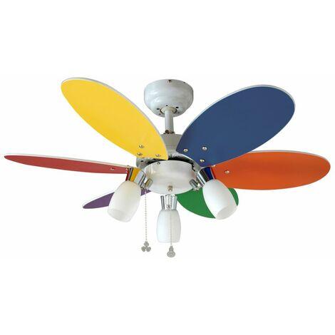 Ventilatore per soffitto colorato SULION 072645