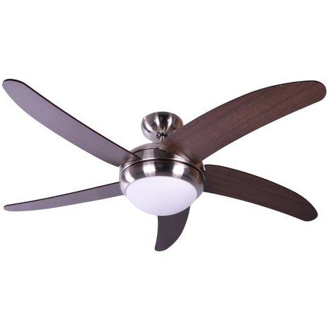 Ventilatore Soffitto con Luce Pale Wenge cm 132x42,5x132 AireRyder FN75539X