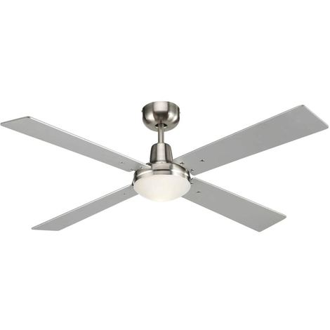 Ventilatore Soffitto con Pale Bicolore cm 122x27x122 Lucci Air 210334