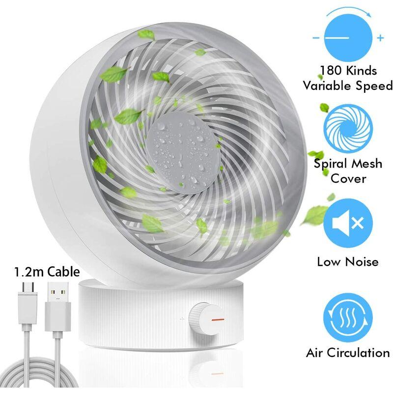 Bearsu Ventilatore, ventilatore USB Ventilatore da tavolo Mini ventilatore Ventilatore silenzioso 180 tip