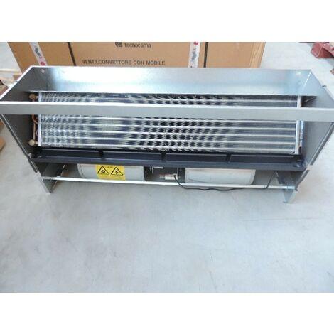 Ventilo-convecteur taille 05 encastré à eau 2 tubes 800m3/h 1060x480x260mm pose plafond/mur VN 500 version SM TECNOCLIMA
