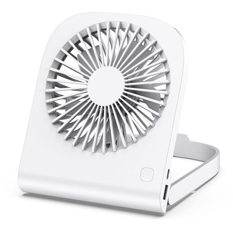Thsinde Ventola portatile, ventola mobile, ventola pieghevole retrattile con mini ventola bianca con rica