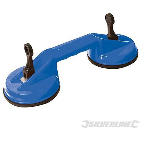 Ventouse double 70Kg - Silverline - 675088