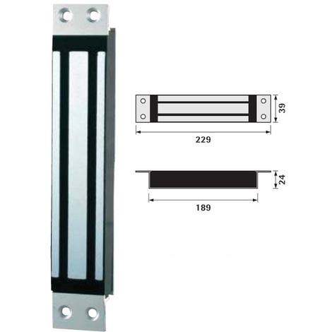 Ventouse Electro Magnetique A Encastrer ECM5000 300 Kg DIGIT