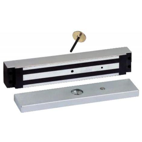 Ventouse électromagnétique à encastrer corps inox en largeur de 35,5 mm 300 kgs 12-24 Volts DC