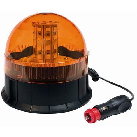 Ventouse magnétique rotative pour feux de signalisation Bitension 40 Led 12/24V Tecnocem