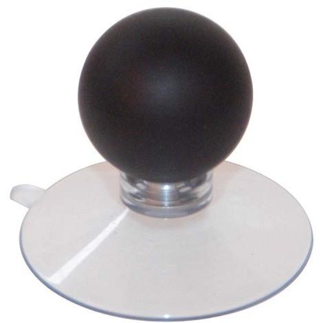Ventouse plastique transparent / boule chromé