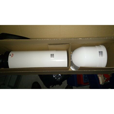 Ventouse terminal horizontal télescopique avec prise 80/125mm pour chaudiere à condensation ODEALIS AZB 918 ELM 7719003685