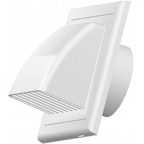 Vents Ventilation Grate Covering Return Flap Diameter 125 mm ABS White Outer Cover