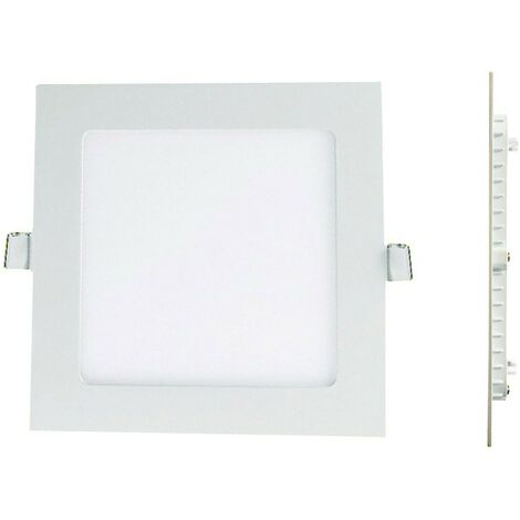 Ver diapositiva LED cuadrado Downlight Panel extraplano 12W blanco frío 6000 k