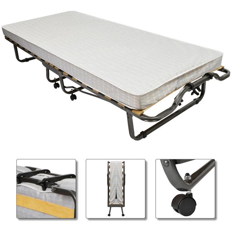 Gästebett / Klappbett inkl. Matratze und Schutzhülle 190x80x40 cm - Veraflex