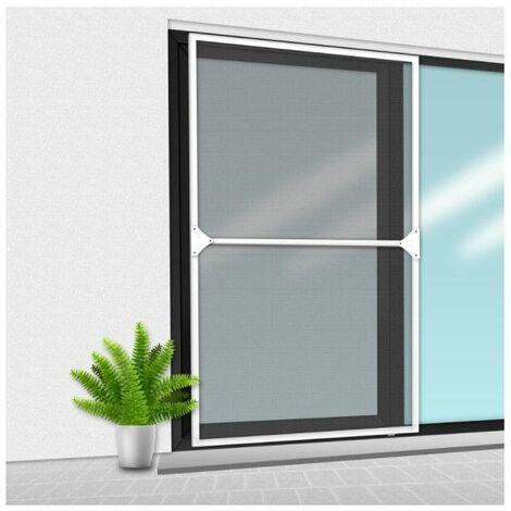 Veranda mosquitera CONFORTEX sobre marco para ventana corredera - 150 x 220 cm - Blanco - Blanc