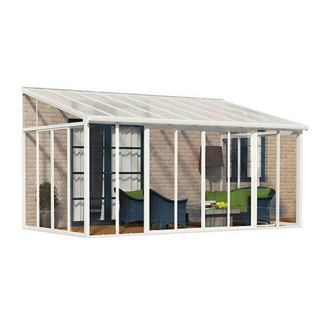 Véranda San Remo 12,54 m² blanche - longueur : 4m25