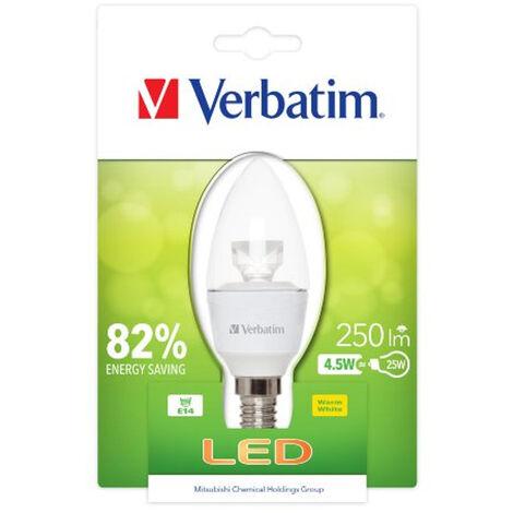 Verbatim 52603 Energy Saving E14 LED Candle 4.5W Clear House Light Bulb Lamp