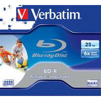 Verbatim BD-R 25Go 6x Imprimable, 1 pièce en Jewelcase (43712)