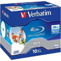 Verbatim BD-R 25Go 6x Imprimable, 10 pièces en Jewelcase (43713)