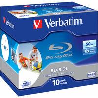 Verbatim BD-R 50 Go 6x Imprimable, 10 pièces en jewelcase (43736)