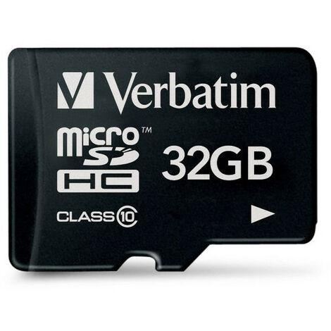 "main image of ""Verbatim Carte microSD SD 32Go SDHC Class 10 (44013)"""
