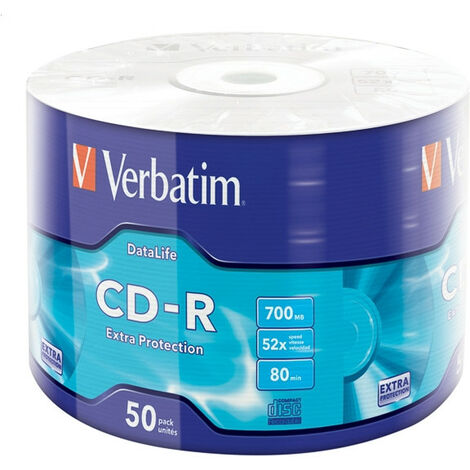 Verbatim CD-R Extra Protection - CD-R - 700 Mo - 50 pièce(s) - 52x (43787)