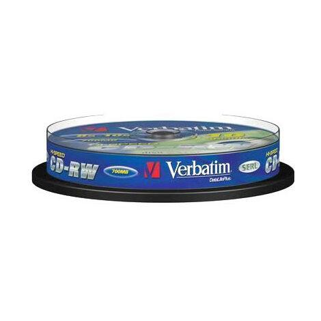 Verbatim CD-RW 8-12x, 10 pièces en cake box (43480)