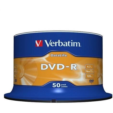 Verbatim DVD-R 4.7 GB 16x CB (50) - DataLife - matt silver surface (43814)