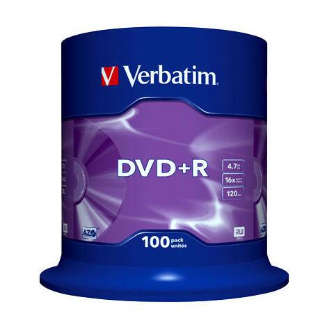 Verbatim DVD+R Advanced AZO Plus, 16x, 100 pièces en cake box (43551)