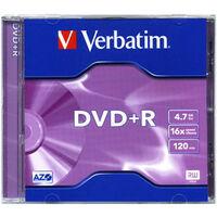 Verbatim DVD+R Matt Silver, 16x certifié, 1 pièce en jewelcase (43497 / 5)