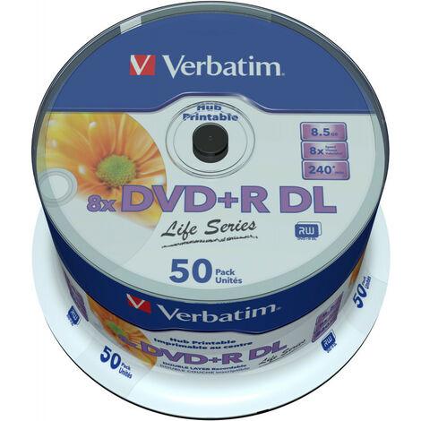 Verbatim DVD+R8,5gb 8x double layer printable, 50 pieces en cake us ver (97693)