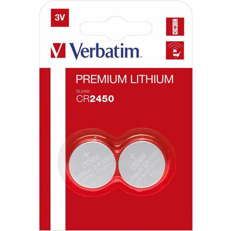 Verbatim Pile Lithium CR2450 3V2Pack (49938)
