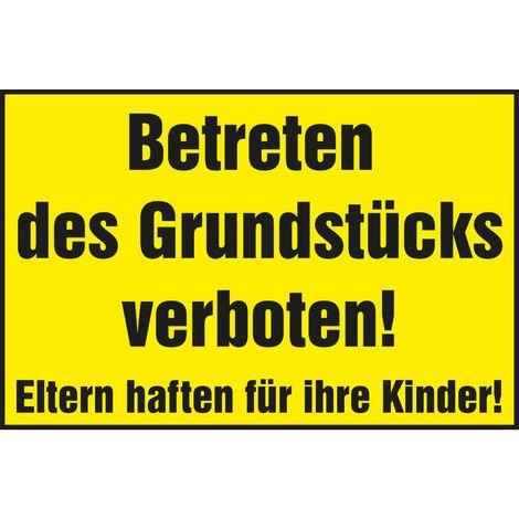 Privatweg Durchfahrt verboten Verbotsschild 300 x 200 mm gelb//schwarz