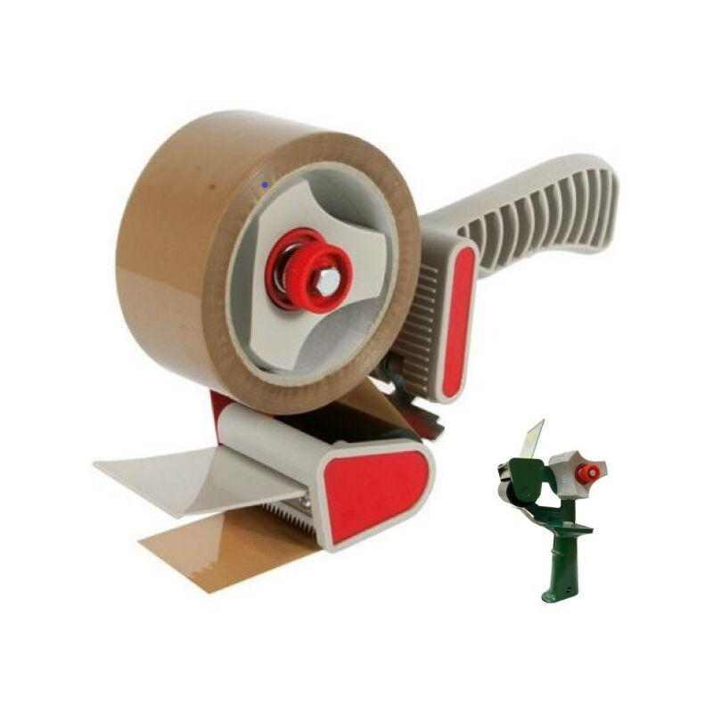 Dispenser nastro adesivo tendinastro scotch imballaggi verde e rosso