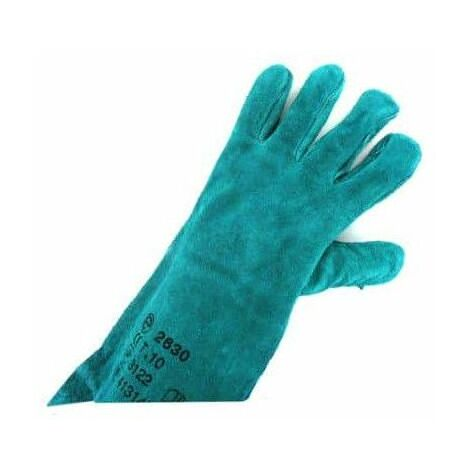 verde de cuero con guantes de protección Talla XL / 10 EP 2630