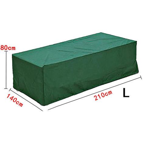 VERDE impermeable muebles de jardín cubre rectángulo BBQ exterior cubo de mesa de ratán LAVENTE