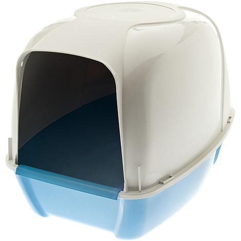 Verdeckte und offene Katzentoilette Modell KRONO aus Kunststoff für Katzen