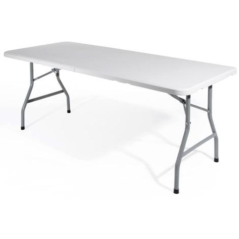 Tavoli In Plastica Pieghevoli.Verdelook Tavolo Pieghevole In Plastica 2360 16
