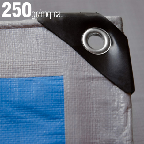 Dim VERDELOOK Telo occhiellato Multiuso in polietilene 6X10 m Colore Verde//Blu coperture