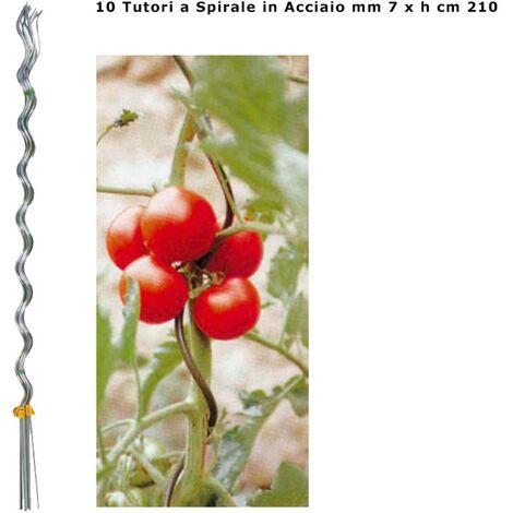 """main image of """"Verdemax 10 tutori a spirale ideali per pomodori in acciaio zincato 7 mm x altezza 210 cm"""""""