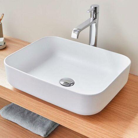 verglastes Keramik-Aufsatzwaschbecken quadratisch oder rechteckig CATANIA
