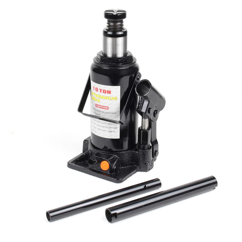 Cric bouteille hydraulique 10T Vérin de levage Voiture Véhicule Outil Garage Auto Chandelle