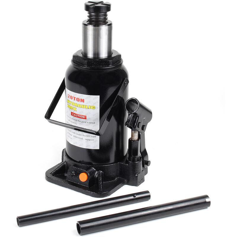 Cric bouteille hydraulique 20T Vérin de levage Voiture Véhicule Outil Garage Auto Chandelle