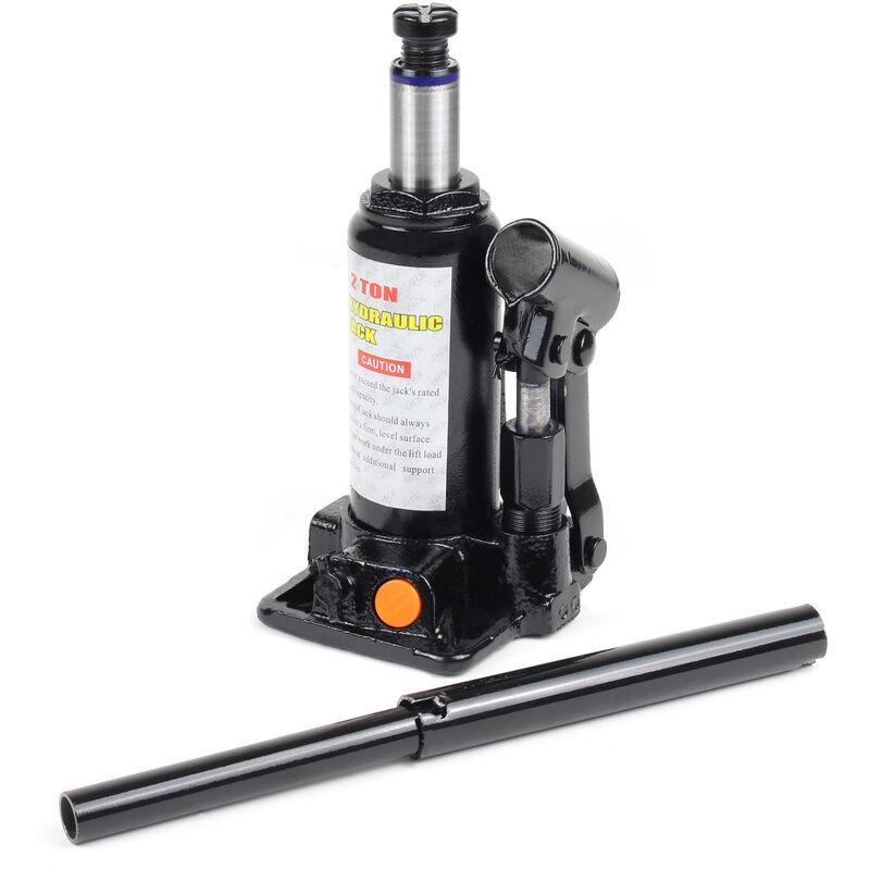 Cric bouteille hydraulique 2T Vérin de levage Voiture Véhicule Outil Garage Auto Chandelle