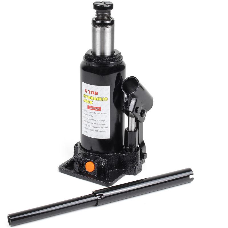 Cric bouteille hydraulique 6T Vérin de levage Voiture Véhicule Outil Garage Auto Chandelle