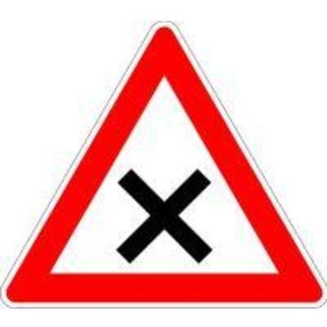 Verkehrszeichen 102 Dreieck 900mm Kreuzung Vorfahrt rechts