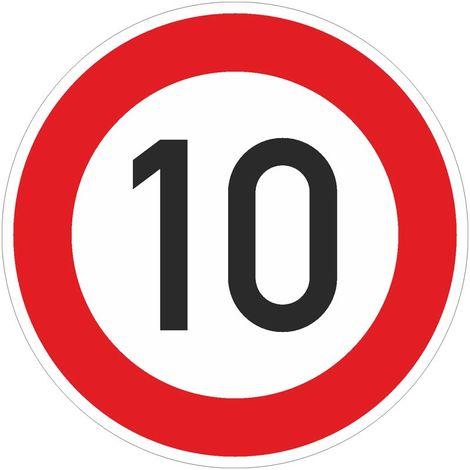 Verkehrszeichen Ronde 274-10 Zulässige Höchstgeschwindigkeit 10 km/h 600 mm RA1 STVO