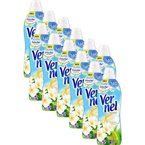 Vernel Weichspülerkonzentrat 12er Pack Mandelblüte 432 Waschladungen Weichspüler